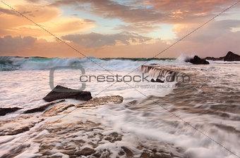 Waves Waterfalls and Sea Foam