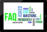 word cloud - faq