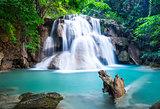 Huay Mae Kamin Waterfall at Kanchanaburi province, Thailand