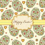 floral easter card