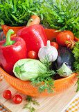 Fresh vegetables (ratatouille ingredients)
