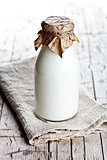 bottle of fresh milk