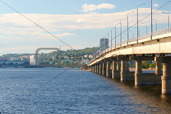 Bridge over the Volga river