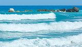 Lefkada coast summer beach (Greece)