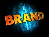 Brand Concept on Digital Background.