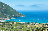 Lefkada coast summer view (Vasiliki, Greece)