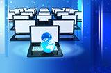 Computer Network Online concept