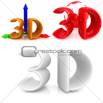 3d text set