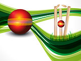 Cricket Background With Wave