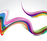 Rainbow color wave background