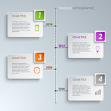 Timeline info graphic rectangle template