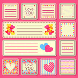 Set of Valentine Small Cards