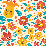 Cartoon Floral Pattern