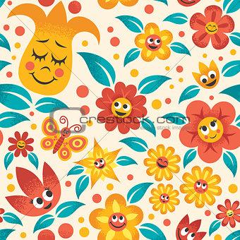 Cartoon Floral Pattern