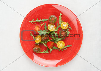 Tomato salad with arugula
