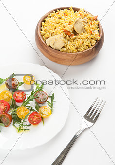 rice and vegetable salad