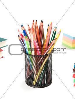 Back to school concept. Pencils.