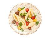 italian pasta shell with tomato