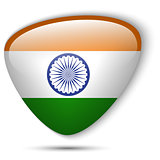 Indian Flag Glossy Button