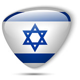 Israel Flag Glossy Button