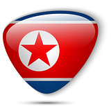 North Korea Flag Glossy Button