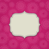 Pink Invitation Card with Blank Label