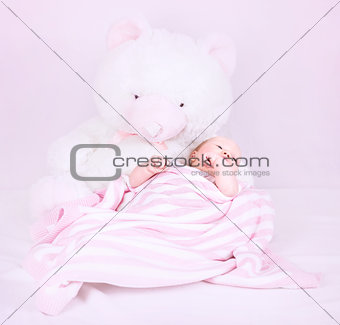Cute newborn girl