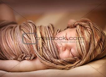 Sweet baby girl asleep