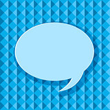 Bubble Chat Icon on Blue Seamless Geometric Background