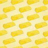 Gold Bars Seamless Pattern