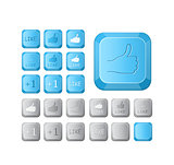 Thumbs up and like symbol on keyboard