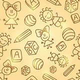 Kid Seamless Pattern