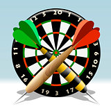 The dartboard