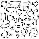 Speech Bubble And Symbols Set
