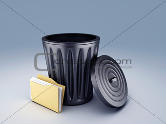 Folder with Trash Bin