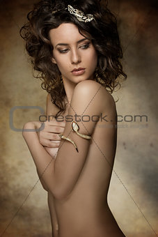 charming nude fashion girl
