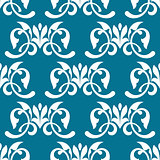 Blue decorative seamless pattern