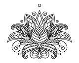 Turkish or persian floral design