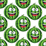 Seamless pattern of a laughing watermelon