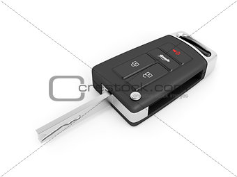 Car key on white