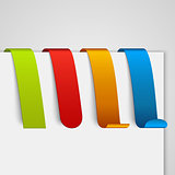 Set of colored paper tags