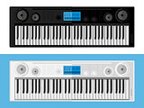 Isolated image of synthesizers. Flat design