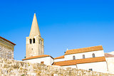 Porec - old Adriatic town in Croatia, Istria region. Popular tou