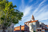 Roman ruins and St. Mary church in Zadar, Croatia