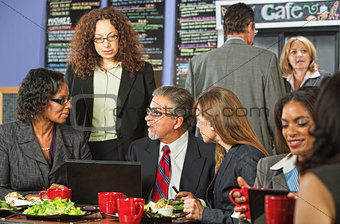 Four Business People at Lunch