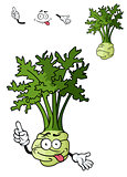 Funny cartoon celery vegetable