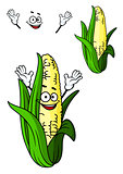 Happy corn on the cob with a big smile