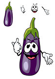 Smiling purple eggplant vegetable