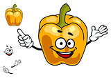 Smiling orange sweet bell pepper vegetable
