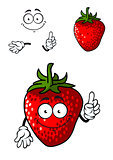 Cheerful ripe red strawberry
